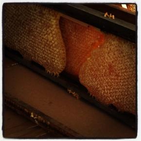 Pulling honey